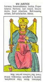 Justice Tarot Card - Starter Tarot Deck