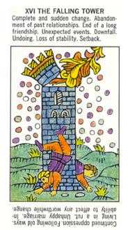 The Falling Tower Tarot Card - Starter Tarot Deck