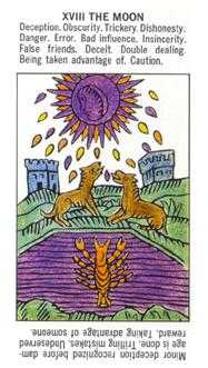 The Moon Tarot Card - Starter Tarot Deck