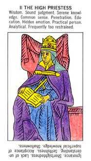The High Priestess Tarot Card - Starter Tarot Deck