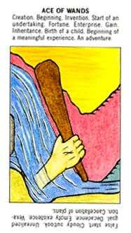 Ace of Rods Tarot Card - Starter Tarot Deck