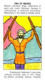 Two of Wands Tarot Card - Starter Tarot Deck