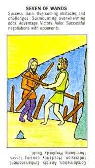 Seven of Rods Tarot Card - Starter Tarot Deck