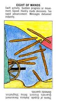 Eight of Rods Tarot Card - Starter Tarot Deck