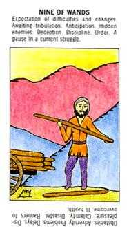 Nine of Batons Tarot Card - Starter Tarot Deck