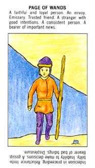 Page of Rods Tarot Card - Starter Tarot Deck