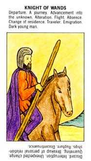 Knight of Rods Tarot Card - Starter Tarot Deck