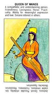 Queen of Staves Tarot Card - Starter Tarot Deck