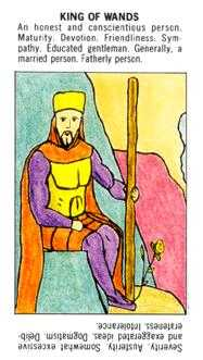 King of Batons Tarot Card - Starter Tarot Deck