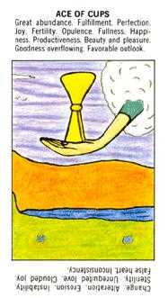 Ace of Bowls Tarot Card - Starter Tarot Deck