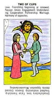 Two of Cups Tarot Card - Starter Tarot Deck