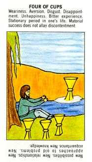 Four of Cauldrons Tarot Card - Starter Tarot Deck