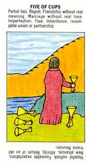 Five of Bowls Tarot Card - Starter Tarot Deck