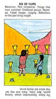 Six of Bowls Tarot Card - Starter Tarot Deck