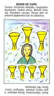 Seven of Cups Tarot Card - Starter Tarot Deck
