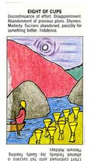 Eight of Cups Tarot Card - Starter Tarot Deck
