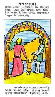 Ten of Hearts Tarot Card - Starter Tarot Deck
