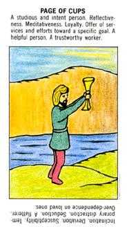 Page of Cauldrons Tarot Card - Starter Tarot Deck