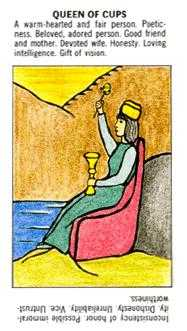 Reine of Cups Tarot Card - Starter Tarot Deck