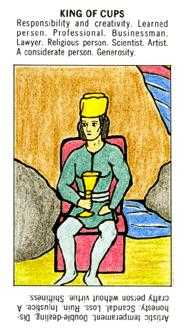 Roi of Cups Tarot Card - Starter Tarot Deck