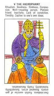 The Pope Tarot Card - Starter Tarot Deck