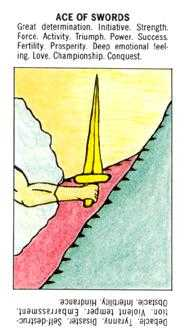 Ace of Arrows Tarot Card - Starter Tarot Deck