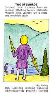 Two of Arrows Tarot Card - Starter Tarot Deck
