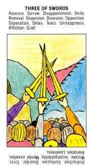 Three of Wind Tarot Card - Starter Tarot Deck