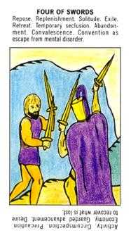 Four of Arrows Tarot Card - Starter Tarot Deck