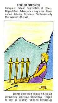 Five of Wind Tarot Card - Starter Tarot Deck