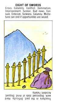 Eight of Swords Tarot Card - Starter Tarot Deck