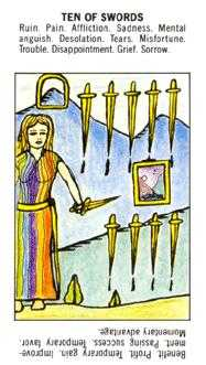 Ten of Arrows Tarot Card - Starter Tarot Deck