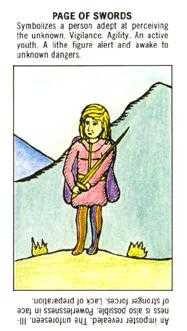 Daughter of Swords Tarot Card - Starter Tarot Deck