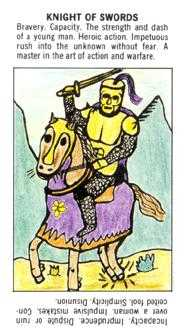 Knight of Spades Tarot Card - Starter Tarot Deck