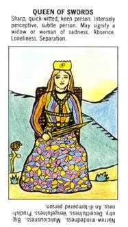 Queen of Arrows Tarot Card - Starter Tarot Deck