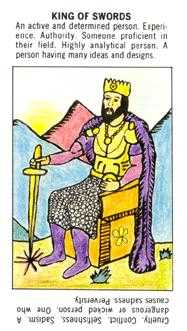 King of Swords Tarot Card - Starter Tarot Deck