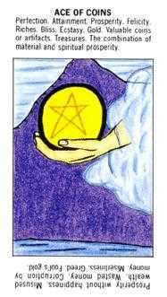 Ace of Pentacles Tarot Card - Starter Tarot Deck