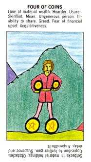 Four of Buffalo Tarot Card - Starter Tarot Deck