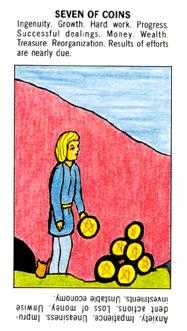 Seven of Pentacles Tarot Card - Starter Tarot Deck