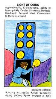 Eight of Coins Tarot Card - Starter Tarot Deck
