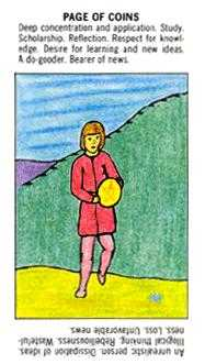 Daughter of Coins Tarot Card - Starter Tarot Deck