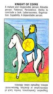 Knight of Coins Tarot Card - Starter Tarot Deck