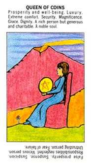 Queen of Coins Tarot Card - Starter Tarot Deck