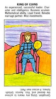 King of Discs Tarot Card - Starter Tarot Deck