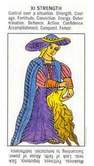 Strength Tarot Card - Starter Tarot Deck