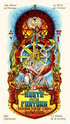 The Wheel of Fortune Tarot Card - Stella Tarot Deck
