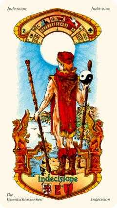 Two of Staves Tarot Card - Stella Tarot Deck