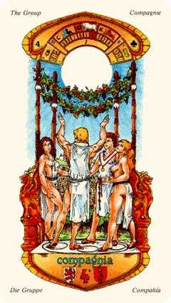 Four of Sceptres Tarot Card - Stella Tarot Deck