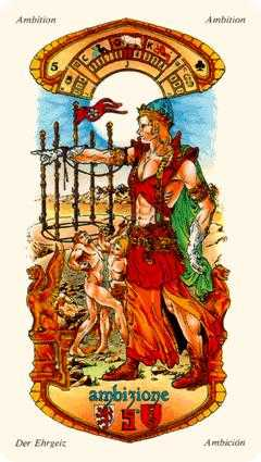 Five of Pipes Tarot Card - Stella Tarot Deck