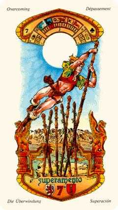 Seven of Pipes Tarot Card - Stella Tarot Deck